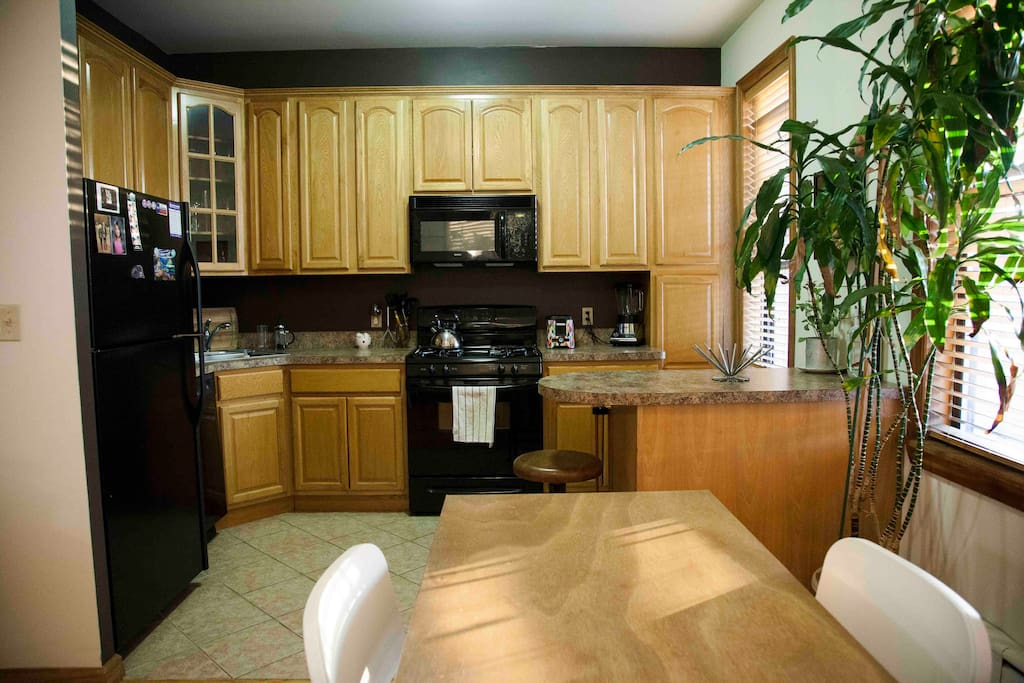 Great big kitchen with microwave, dishwasher, oven etc.
