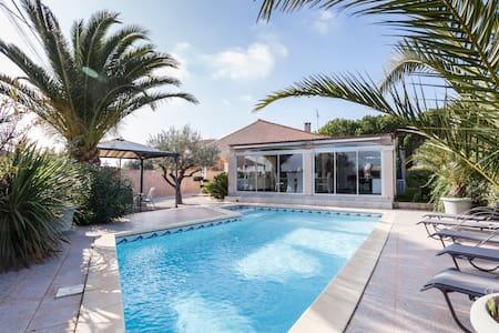 Maison plein pied spacieuse piscine - Maureilhan