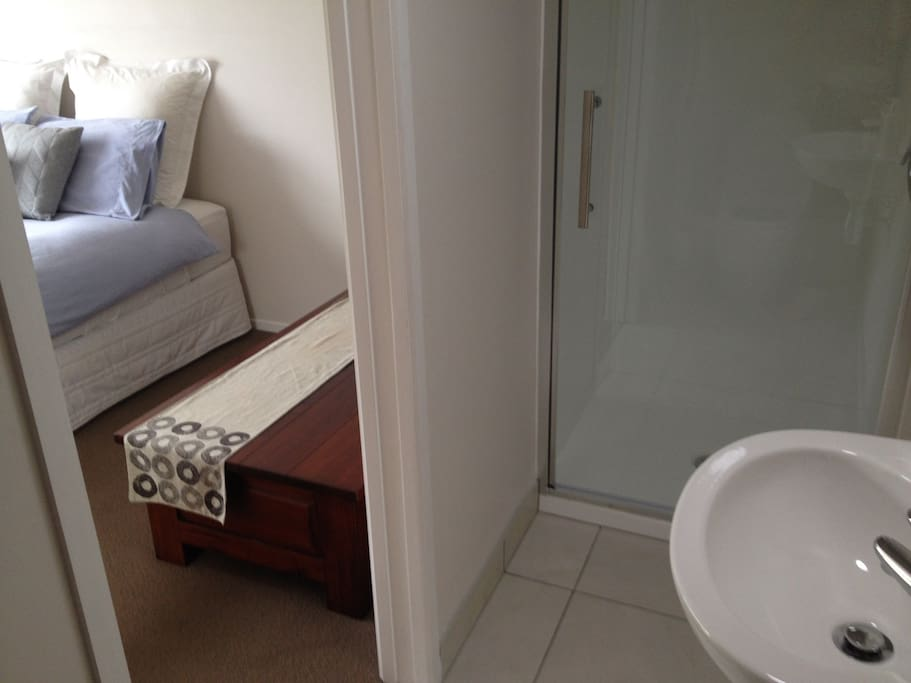 Your private, brand new ensuite (shower, handbasin and toilet) off double bedroom