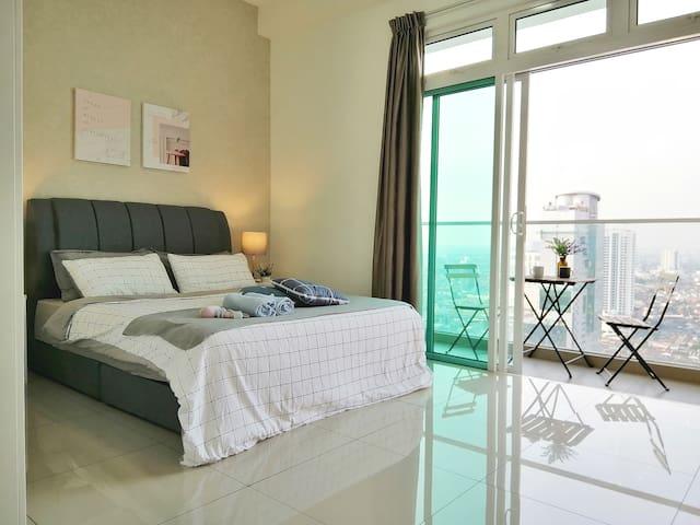 [Delight Homestay]Studio with balcony @Johor Bahru