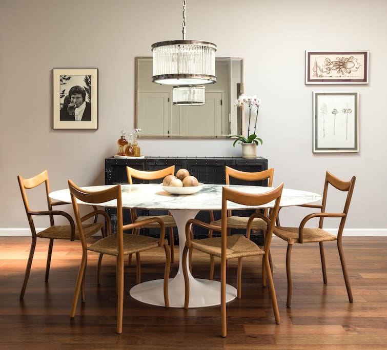 Dining table seats 6-8