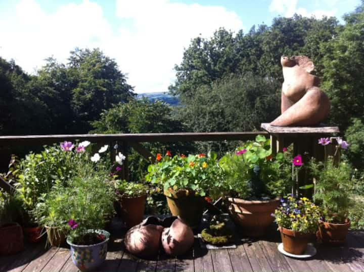 Creative and peaceful artist's home on Dartmoor