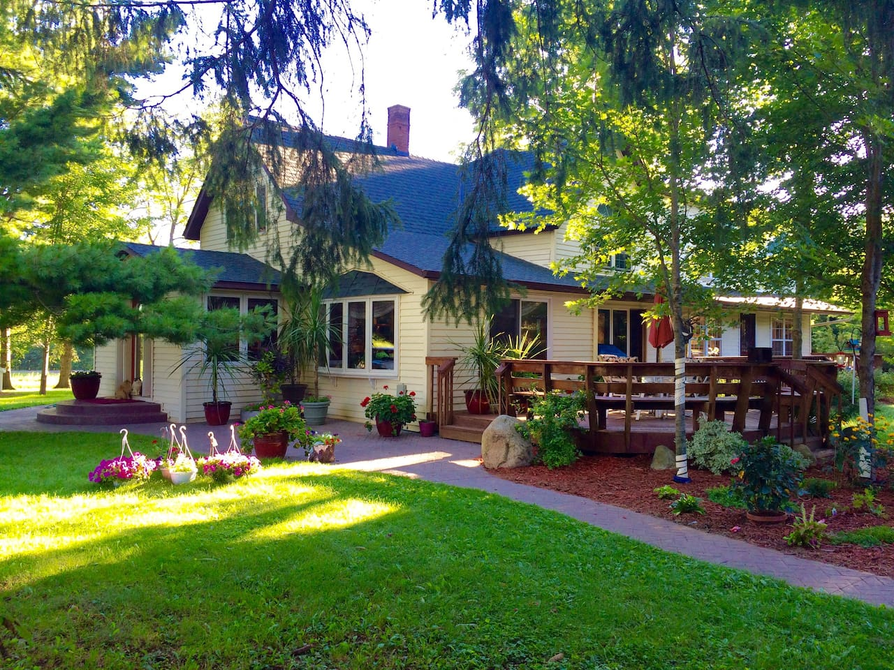 Beautiful, renovated farmhouse!  Modern conveniences, yet has the charm of long ago.