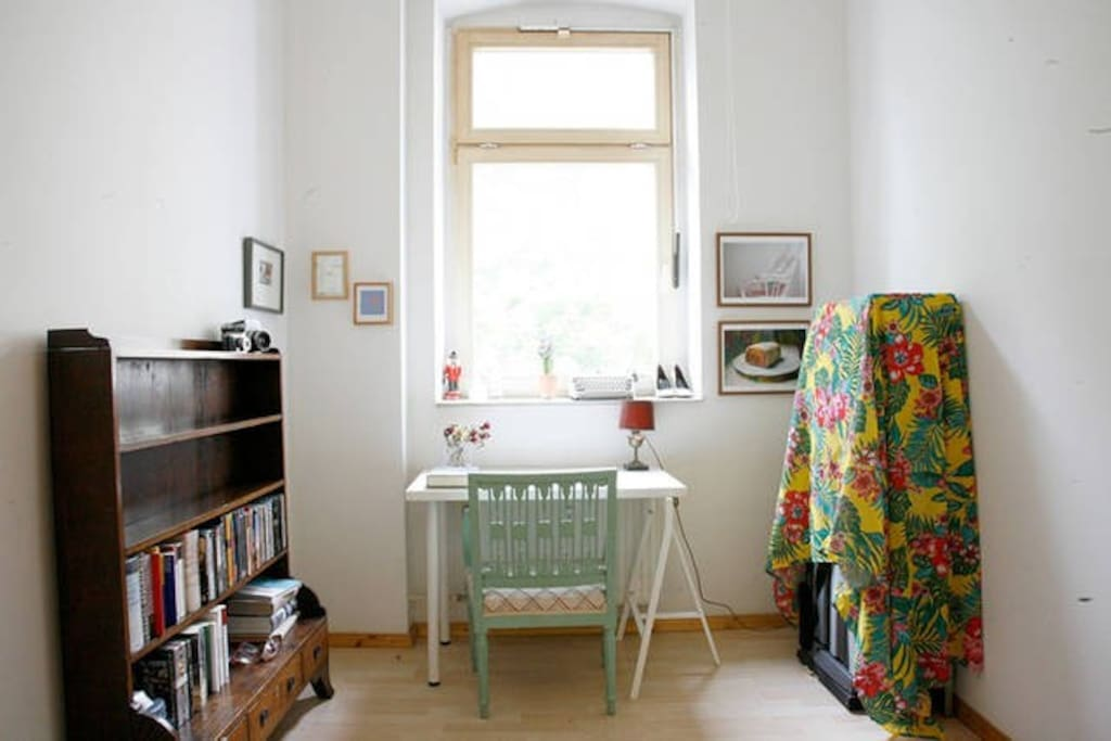 bedroom with spring light