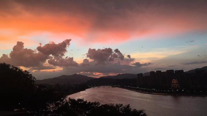丽水市南明湖畔的特色湖景房——紫微南舍·听风