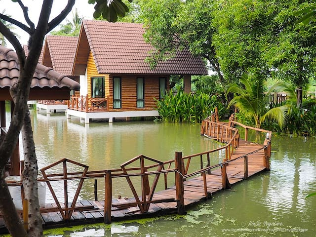 A small resort in a little town , Thailand