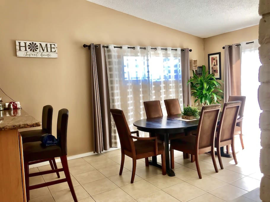 Dining room available