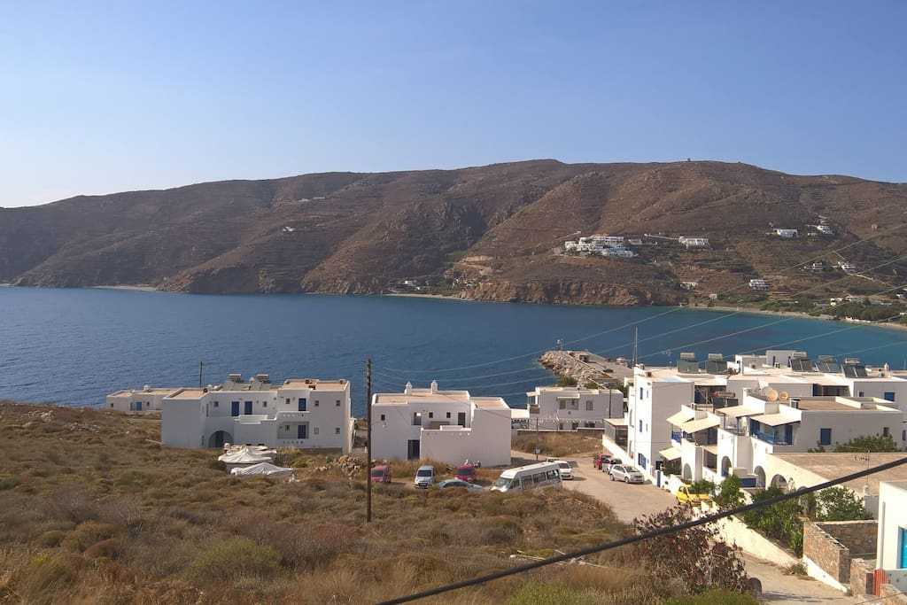 View of Aegiali Bay
