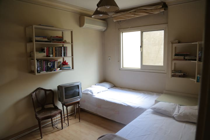2 Beds, Sunshine & Library - Cairo - Appartement