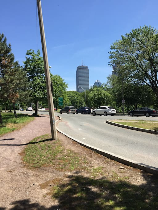 15 minute walk  to Northeastern University or the Prudential.