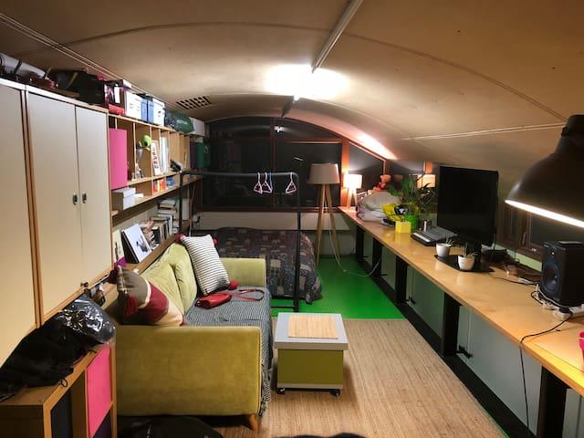 Room (mezzanine level)in modern live work unit