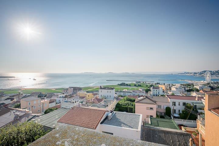 Villa  bord de Mer, vue féerique (jusqu'à 10 pers)