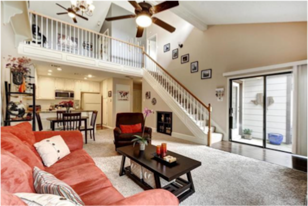 Living room, dining, kitchen, patio, laundry. Enjoy full use of the kitchen!