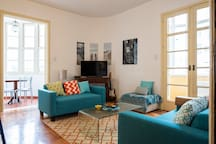 Bright Living room with veranda