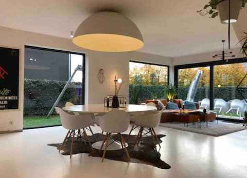 Modern house filled with light