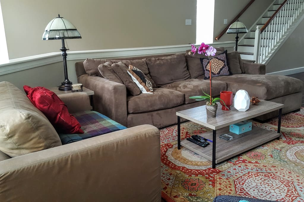 Another view of the living room. Plenty of natural light throughout the house.