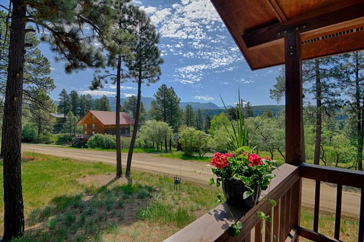 Quiet Beauty /w Mountain Views! Huge Deck in the Trees-20 Mins to Wolf Creek-Minutes to Hot Springs!