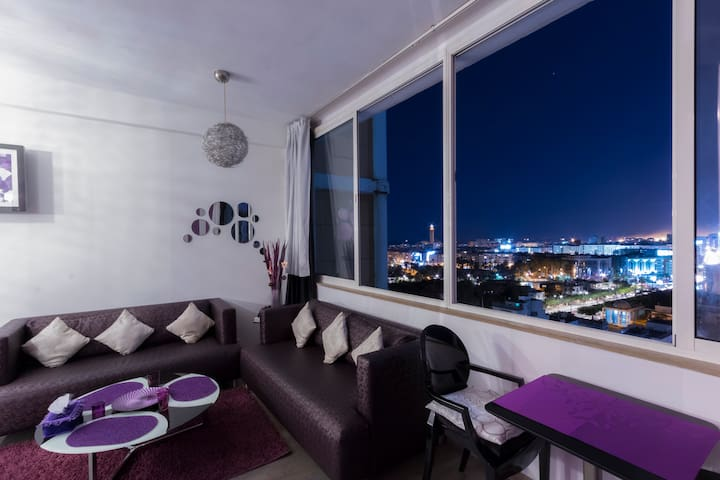 Lovely Studio With Panoramic View - Kasablanka