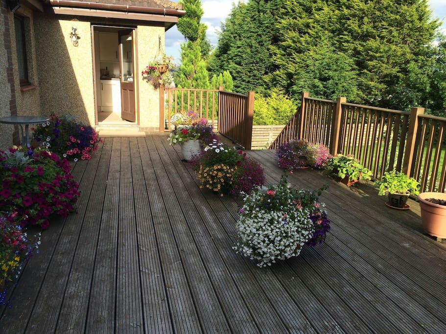 deck area in summer