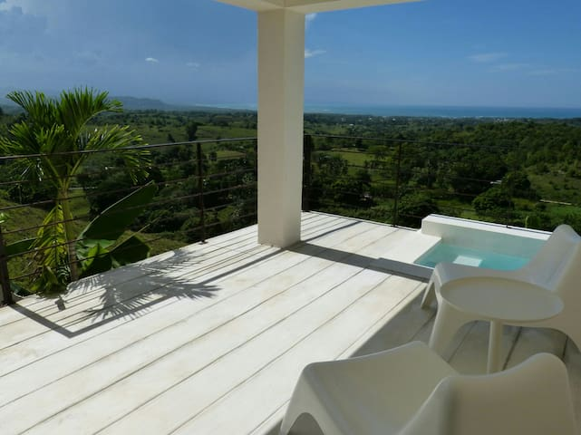 Seaview and mini pool for 2. Ideal for lovers! - Rio San Juan - Huvila