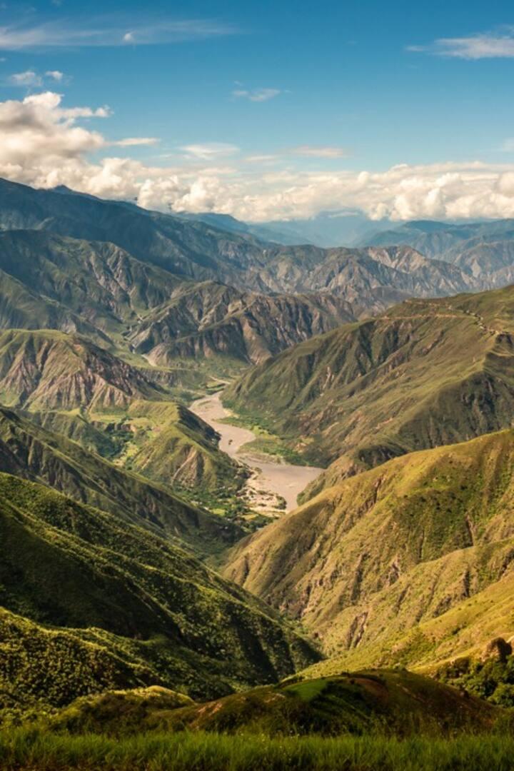 Nuestra vista de El Cañón del Chicamocha