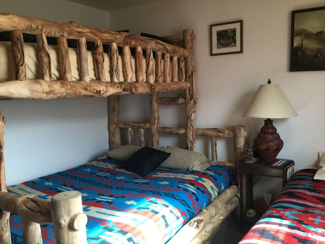The Guatemala room with queen bed & twin XL. All rooms are lockable from the inside.