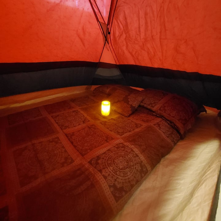 Glamping Double Tent In A Cozy 2 Story House