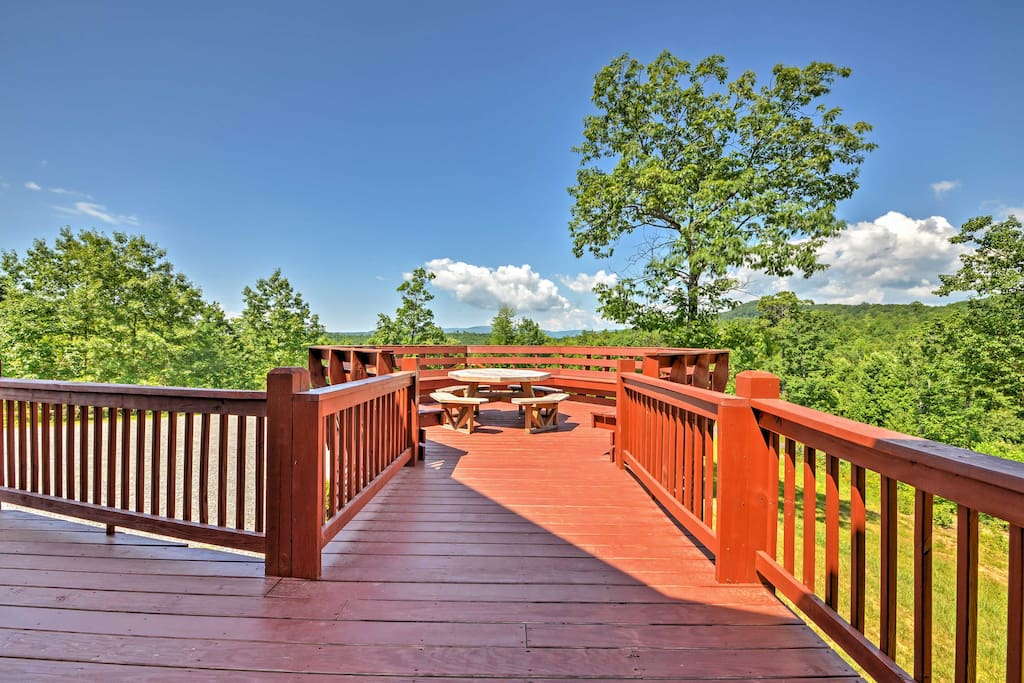 Take in scenic views of the Blue Ridge Mountains from the comfort of your spacious back deck!