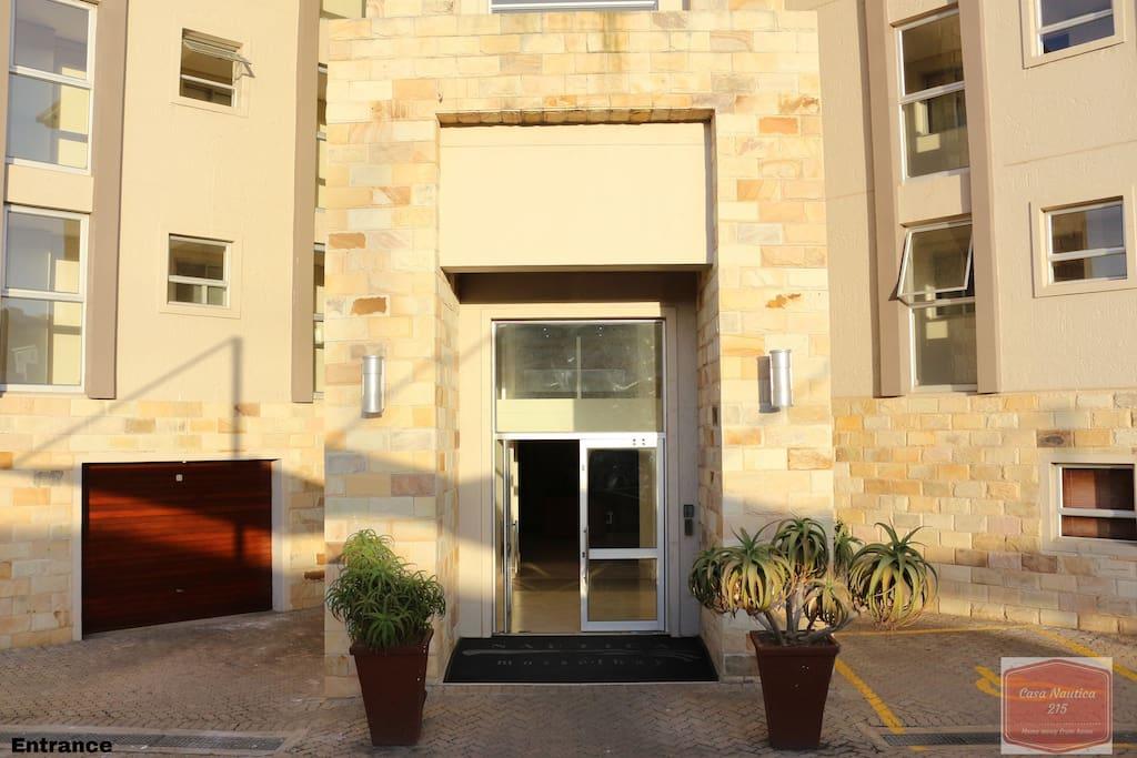 Entrance to Nautica Luxury Apartments Main Lobby where true luxury awaits you.