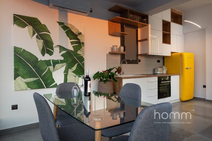 59m² homm Loft- Penthouse with Acropolis View,2ppl