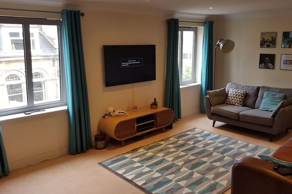 Modern spacious living area