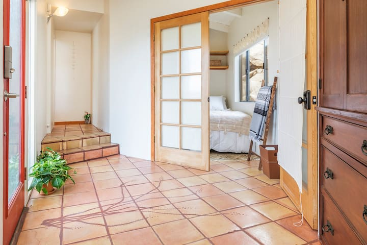 Main entrance with single bedroom  access