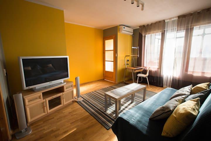 Солнечная квартира для отличного отдыха