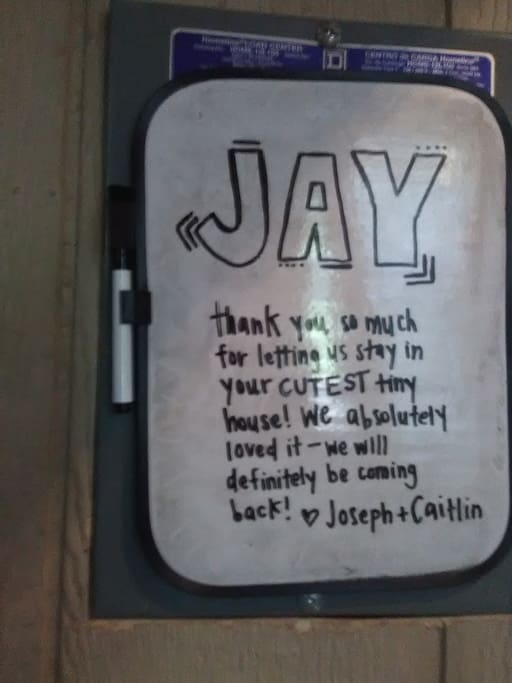 Notes like this one make us very, very happy!  Thank you Joseph and Caitlin!