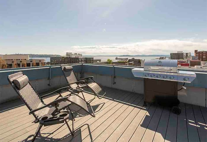 Large Queen Anne Penthouse 2br/2ba, ROOFTOP views!