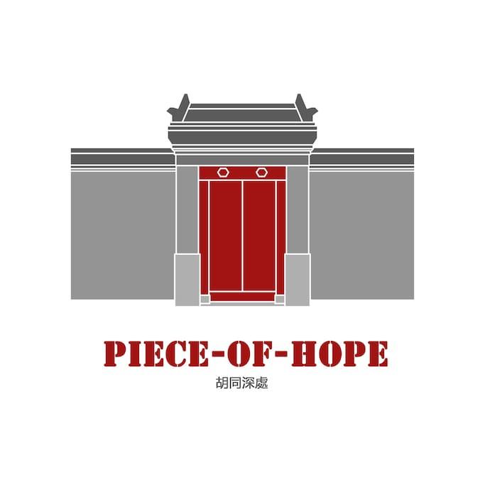 """PIECE-OF-HOPE""品牌LOGO"
