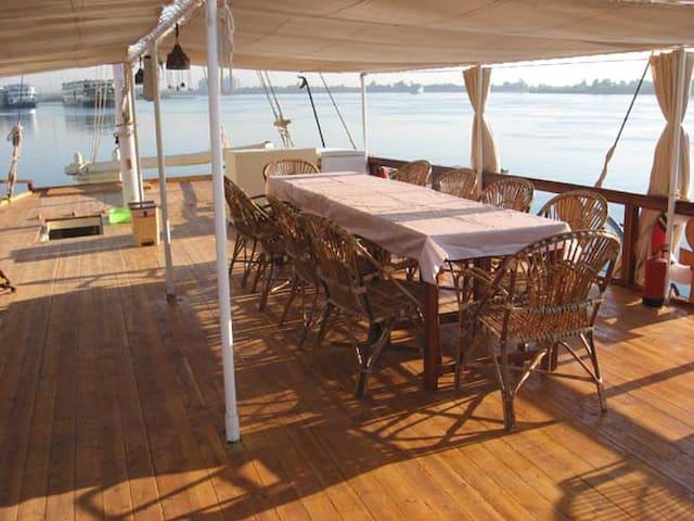 Nice cabin on board of Ankh1 Sandale / Dahabieh