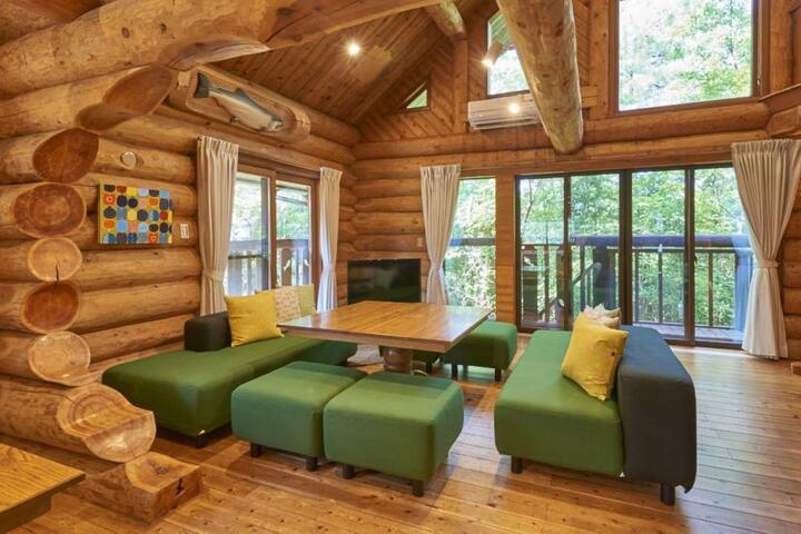 Approximately 30 minutes by car from Hakui Station · Wakura Onsen Station ★Log House