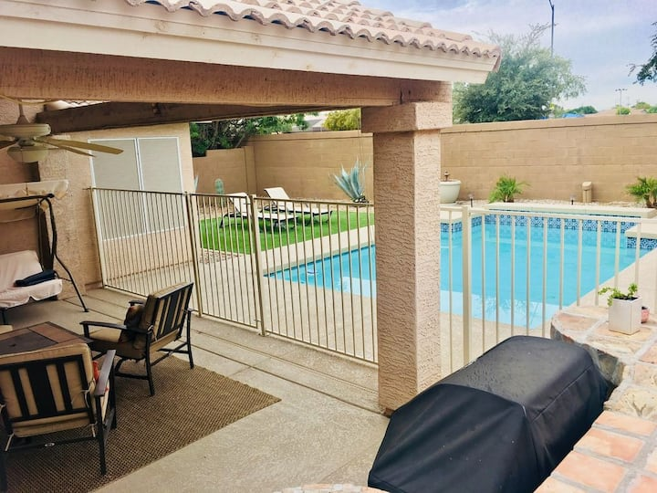 Updated Luxury Family Safe Home with Gated Pool!