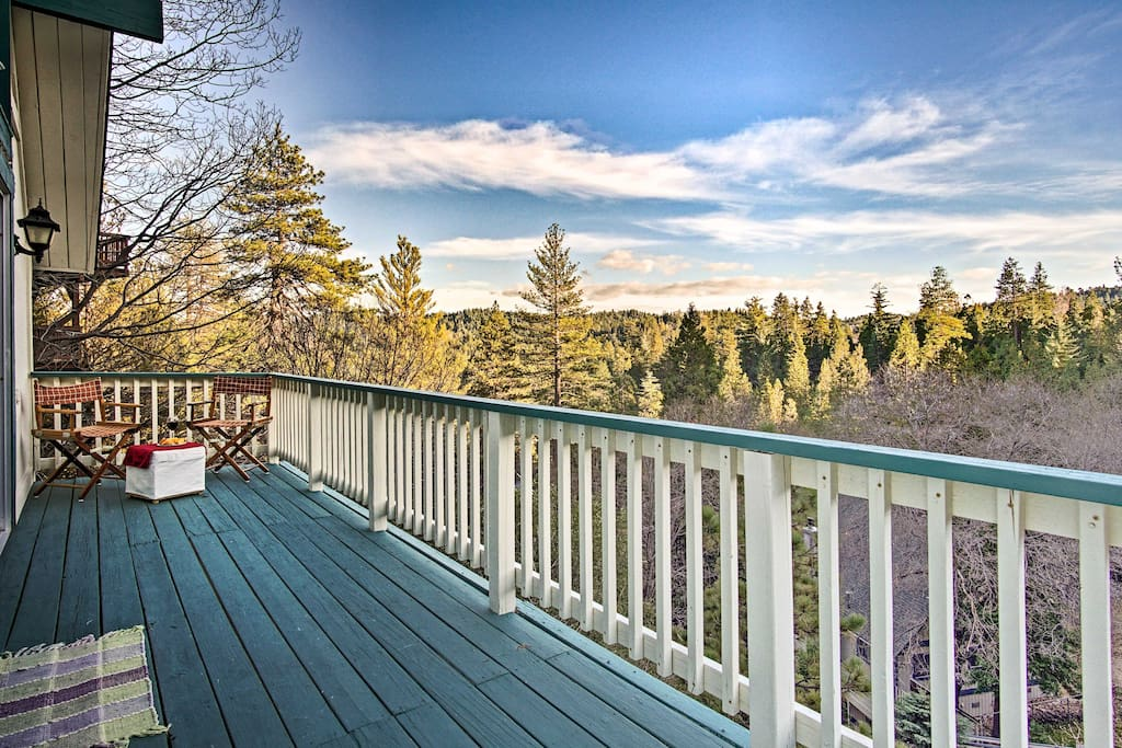 Enjoy the scenic treeline views from one of 2 balconies.