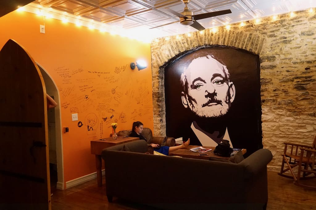 That's right.....The man, the myth, the legend Bill Murray will be ready to welcome you to the new, 2 Story SWAP Loft in Downtown Austin!  SWAP stands for Stay Work And Play - Trust us, you'll love it!