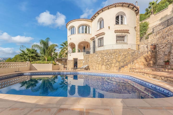 Beautiful villa in Naja style with phenomenal view in Moraira