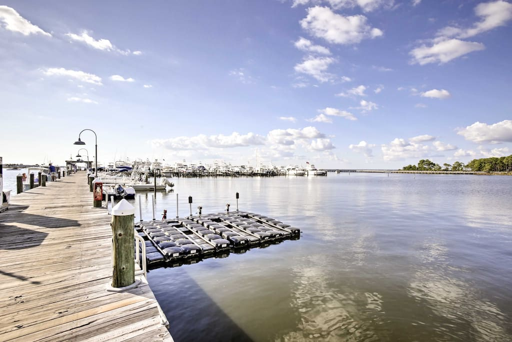 The marina offers boat, kayak, and golf cart rentals - just a walk away!