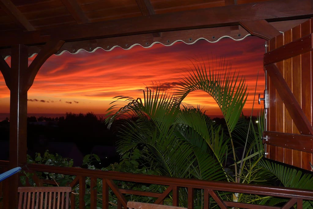 sunset vu de la terrasse