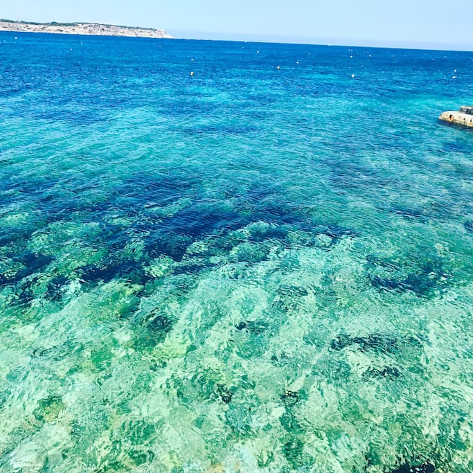 All shades of blue in MELLIEHA Bay