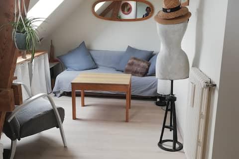 espace privé de 25 m² nuit + salle de bain indiv