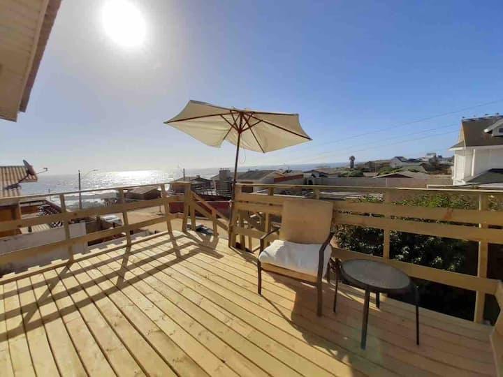 Casa equipada 8 pers. con vista al mar El Quisco