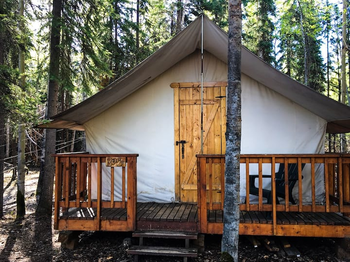 "Expedition wall tent cabin - ""Bear"""