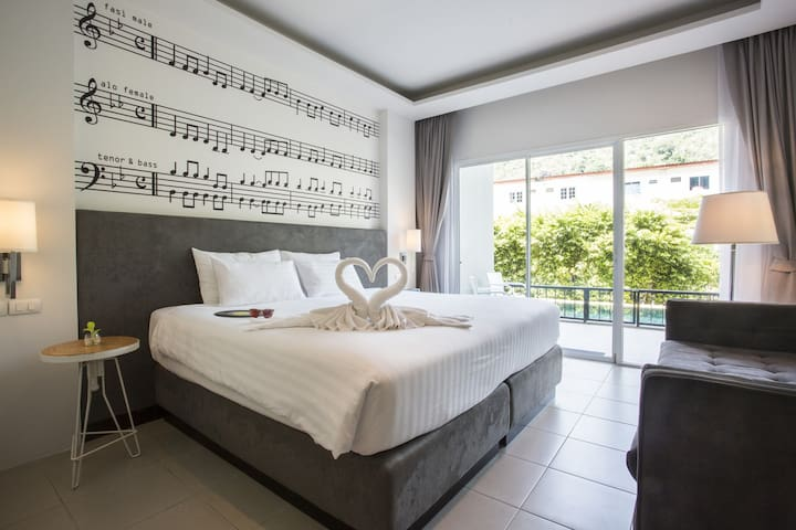 Jazz Pool Access Doubled Bed Room #1