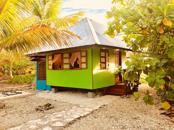 honeymoon reef bungalow on a motu